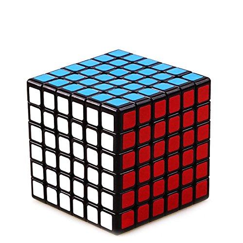 MFJS 2x2x2 a 11x11x11 Cubo magico Velocidad Cubo Rompecabezas Juguetes educativos Pegatina Fondo Negro (6x6x6)