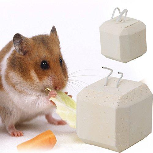 ECMQS Kleine Haustiere Kauen Spielzeug, Kalzium Mineral Zähne Schleifstein für Hamster Hase Vogel Spielzeug