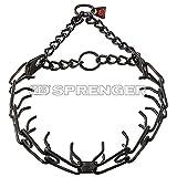 Herm Sprenger Black Finish Prong Dog Collar 3.25mm Large
