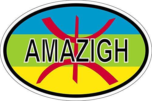Akachafactory Sticker Aufkleber Nationalitätenkennzeichen Flagge Fahne Berber amazigh
