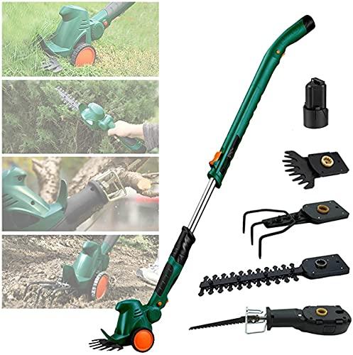 WSZYBAY 4 en 1 Cultivador de timón eléctrico de la tierra, 51.2in Trimmer de setos eléctricos telescópicos, mini herramientas eléctricas de jardín para la cortadora de cadenas, recortadoras de cobertu