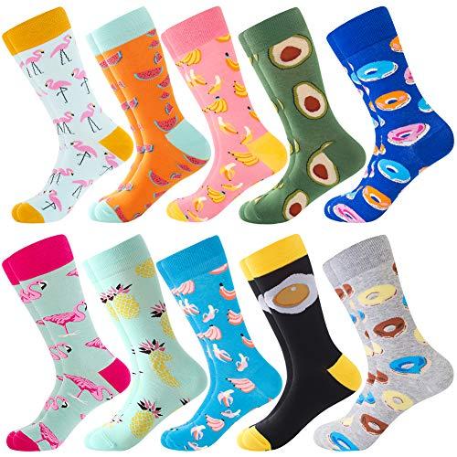 BONANGEL Calcetines Colorful de los Hombres, Hombres Ocasionales Calcetines Divertidos Impresos de Algodón de Pintura Famosa de Arte Calcetines, Calcetines de Colores de moda