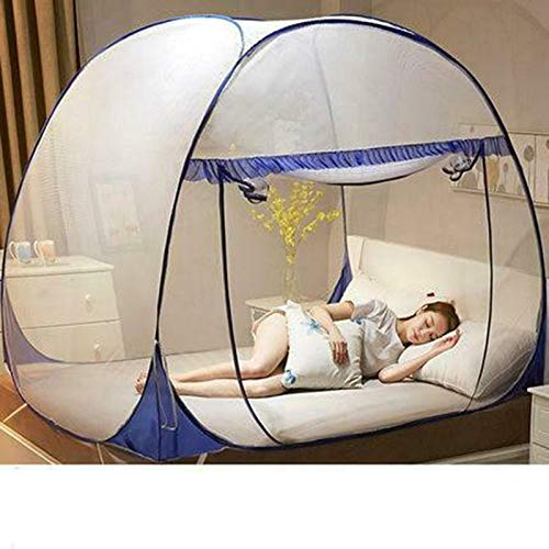Anti-Mosquito Pops-up Mesh Tent Home Indoor Outdoor Garden Mosquito Net for Beds Anti Mosquito Bites Folding Design with Net Bottom for Babys Adults Trip Syfinee Mosquito Net Tent