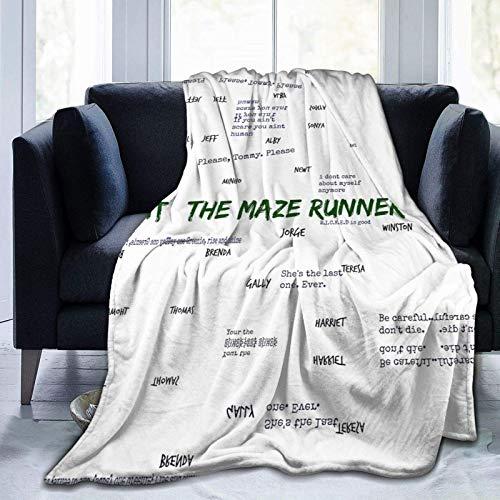 Die Maze Ru-nner Soft und Warm Throw Decke Plüschbett Couch Wohnzimmer Fleece Decke 50 'X40 60 'X50 80 'X60