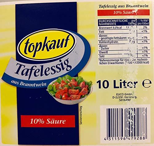 Topkauf Tafelessig 10% 10 Liter Kanister