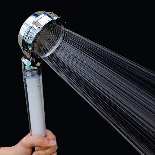 KOTECH KOREA Filter Shower Head Water Saving Handheld Showerhead, Water Softener Shower Head, filter is made in korea