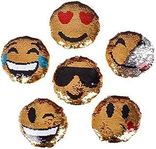 Rhode Island Novelty 5 Inch Emoji Sequin Plush Pack of 12