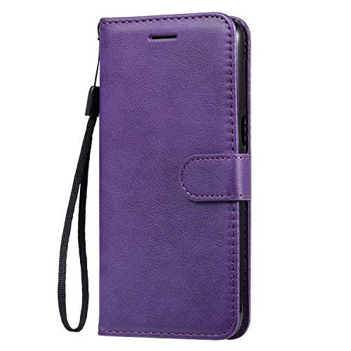 Hülle für Oppo Realme 3 / Realme 3i Hülle Leder,[Kartenfach & Standfunktion] Flip Case Lederhülle Schutzhülle für Oppo Realme 3 / 3i - EYKT051592 Violett