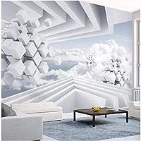 Bosakp ステレオゴールド鹿ツリー壁紙壁画北欧エンボスコンタクトペーパー写真壁紙花鳥3D壁紙家の装飾 160X100Cm