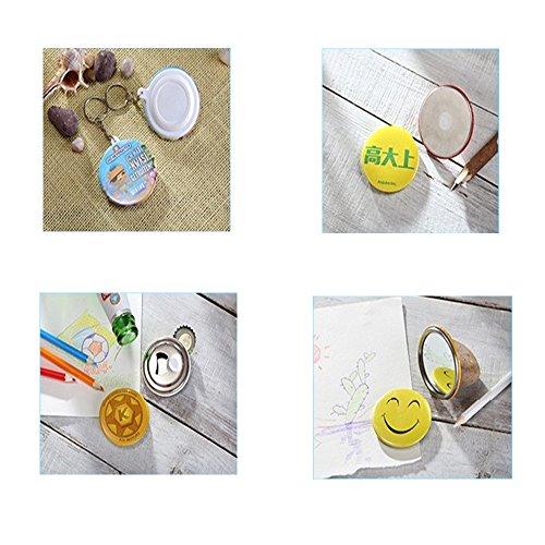 "Dawei 1001 Button Making Machine Badge Maker Button Maker with Aluminum Die/Mold ABS Slide(Φ32mm 1-1/4"")"