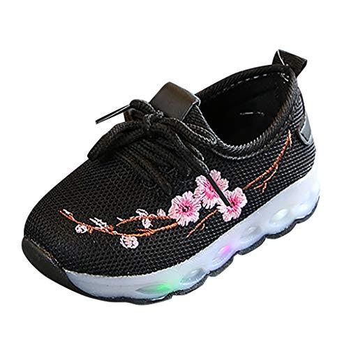 Baby Sternchen Schuhe Jungen Mädchen Krabbelschuhe Piebo Baby Shoes Abstand Unisex-Kinder LED Sneakers Blinkschuhe Low-Top Casual Outdoor Sneakers Laufschuhe Sportschuhe Hallenschuhe Größe 20-31