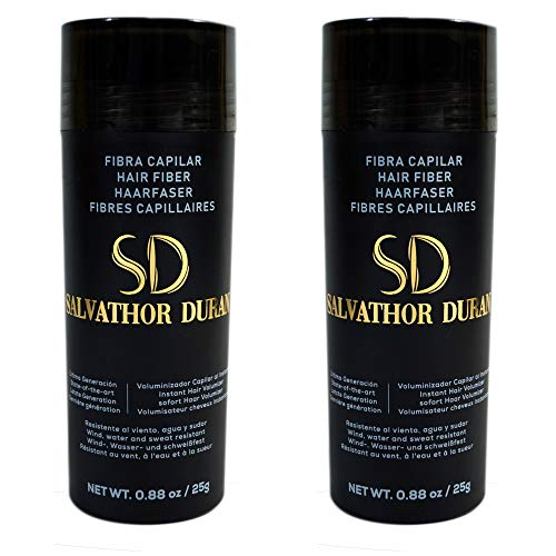 Fibras Capilares Salvathor Duran 25g x2 - Pack Dos Unidades - Hair Fiber Duo (50 gr. Total) (Castaño Claro)