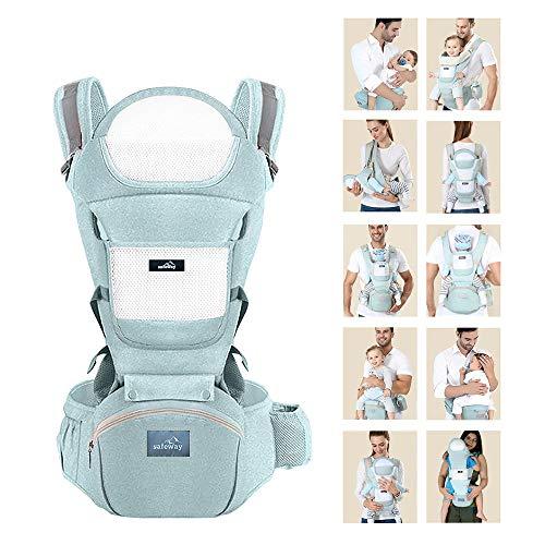 Safeway - Riñonera porta bebé ergonómico de 0 a 36 meses