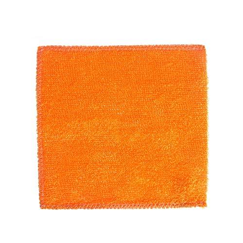 Soft Multicolor Anti-Grease Fibra de bambú Limpieza de trapos de lavado Toalla Plato Paño Cocina Hogar Herramientas Accesorio (Color : Yellow)