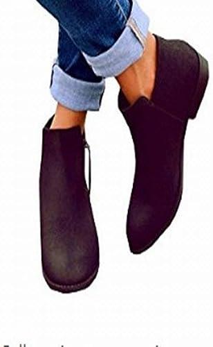 Fuxitoggo schuhe de damen schuhe Planos de Gran tamaño Cremallera Lateral Plana de damen (Farbe   schwarz, tamaño   37)