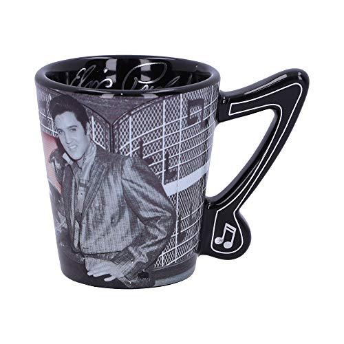 Nemesis Now with Pink Espresso Cup Elvis Presley Espressotasse mit rosa Cadillac, Schwarz, Einheitsgröße