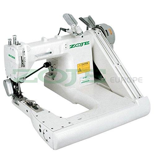 Máquina de coser industrial ZOJE Armabwärts – Máquina de coser de cadena – 2 agujas/4 hilos – con tirador – Máquina de coser industrial – Completo (con mesa y estructura)