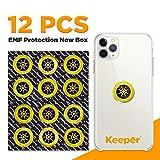 KeeperOn Quantum Shield Anti Radiation   12-Pack New Box 2020   Cell Phone EMF Protection   EMF Sticker   Anti Radiation Sticker   Protect Your Family with Phone Radiation Blocker Sticker