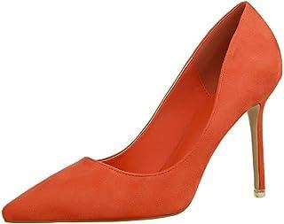 fa5724505b4b31 OALEEN Escarpins Femme Bout Pointu Elégant Effet Daim OL Chaussures Talon  Haut Aiguille Soirée