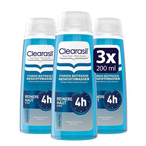 Clearasil Poren Befreier Gesichtswasser, Gegen Pickel und Hautunreinheiten, 3er Pack (3 x 200 ml)