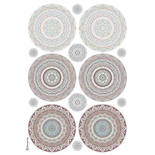Stamperia Reispapier Mandala, A4, Reispapier für Decoupage, Hobbyfarben