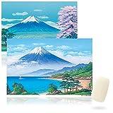 銭湯絵師が描く 富士山 お風呂ポスター(東京都公衆浴場商業協同組合監修)2枚組 シルクソープ付き