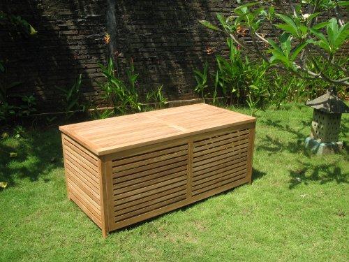 Echt Teak Gartenbox groß offene Lattung