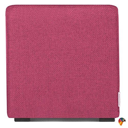 Arketicom Pouf Cube Rose CyclamenEn Polyurethane Haute Densite` Dimensions 45 x 45 x 45h cm (puf Puff pouff pouffe)