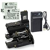 DSTE BG-E8 Battery Grip + 2X LP-E8 Battery + USB Charger Compatible with Canon EOS 550D 600D 650D 700D Rebel T2i T3i T4i T5i