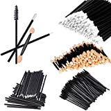 Asnta 200 Pcs Disposable Makeup Applicator Double Eyeshadow Brush - Disposable Eyelash Brush and Lipstick Applicator and Eyeliner Brush Makeup Set