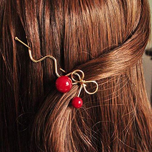3 Pcs Doux Designer De Mode Romantique Femmes Filles Coréen En Forme De Cerise Arc Épingle À Cheveux Élégant Twist Pince À Cheveux Hairgrip Cadeaux, 1