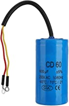250V AC 600uF 50/60Hz CD60 Run Capacitor with Wire Lead for Motor Air Compressor