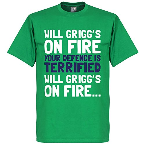 Will Grigg?s On Fire T-Shirt - grün - M