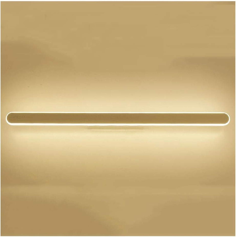 badezimmerlampe Spiegel Frontleuchte, Badezimmer-Schminktisch LED Schlafzimmer Wandlampe Europische Drei-Farben-Lichtquelle Einstellbar (Farbe   TriFarbe light-40cm 24w)