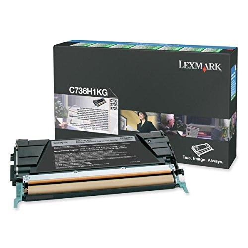 Original Lexmark C736H1KG /, Premium Drucker-Kartusche, Schwarz, 12000 Seiten