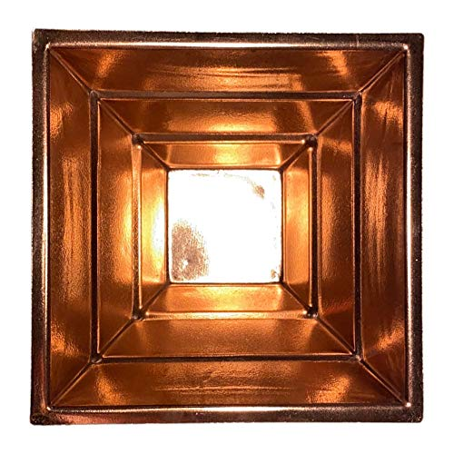 dsnetz Agnihotra Pyramide Kupfer 15,5 cm | indische Kupferpyramide Hawan Kund | Pooja Puja religiöses Tantra Ritual | Altar Zubehör | Esoterik Geschenke günstig kaufen