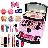MySixKeen Kit de Maquillaje Seguro y no tóxico Juego de cosméticos para niña Juego de simulación de Juguete para niña Juego Divertido