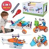 【男の子人気オモチャ】組み立て 車 立体パズル 知育玩具 はたらく車 オモチャ ヘリコプター ブロック DIYカー変形 男の子 おもちゃ 子供 誕生日 プレゼント J-201