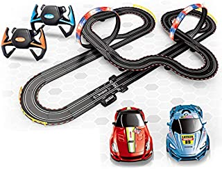 Digital Slot Car Racing Electric Track Race Set of with 9 m Tracks and 2 Cars Large Parent-Child Interactive Toy Boy and G...