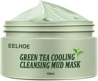 Holmeey Groene thee zuiverende klei masker anti-acne diepte reiniging poriën krimpen hydraterende peeling masker olie cont...