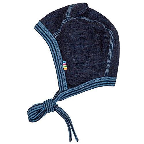 Joha - Bébé garçon Preemie Bonnet de bébé Bonnet Double Face DE Laine Merino en Bleu - Bleu, Ku 34 (GR. 44-50)