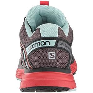 Salomon Women's X-Mission 3 Trail Running Shoes, Magnet/Black/Poppy Red, 10