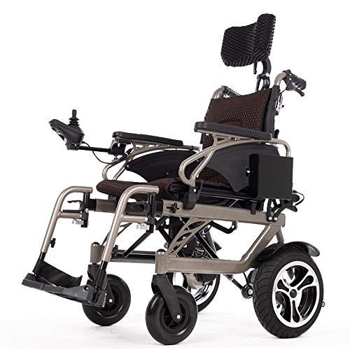 Silla de ruedas, Plegable, Aluminio, eléctrica compacta auxiliar mayor movilidad reducida portátil plegable silla de ruedas eléctrica de doble motor eléctrico Manual de modo dual / batería de litio