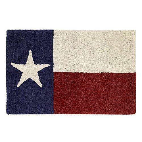 Avanti Linens Texas Star Bath Rug, Ivory, Red, and Blue
