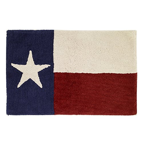 Avanti Linens Texas Star Bath Rug, Ivory, Red, and Blue