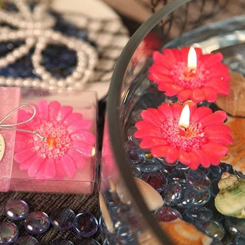 Floating Florals Hot Pink Flower New product! New type - Set Daisy of 67% OFF fixed price Candle