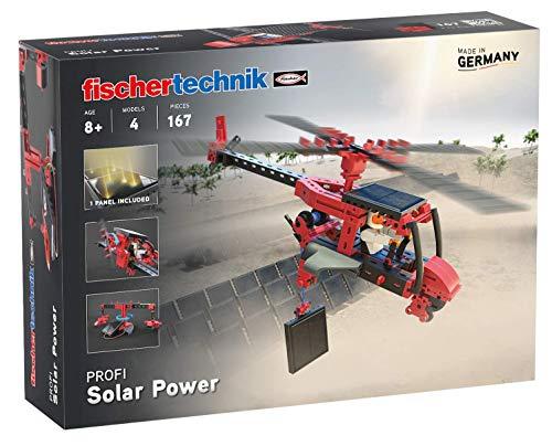 fischertechnik 559882 Profi Solar Power-das Experimentierspielzeug mit 4 Modellen wie Flugzeug, Helikopter, Windrad und Karussell zum Thema Solarenergie-für Kinder ab 8 Jahren