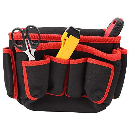 DAUERHAFT Electrician bBag Bolsas múltiples con Bolsa de Almacenamiento de Herramientas con Tapa, para Jardinero(Red Edge)