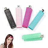 Bangs Hair Curlers,5PCS Double-Layer Bangs Hair Curlers Roller,Rollers Hair Curlers for Bangs,Hairdressing Curlers For Styling Curtain Bangs And Layers(Metal Inner)