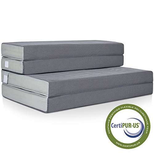Best Choice Products 4in Thick Folding Portable Twin Mattress Topper...